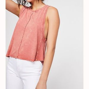 Free People Washed Out Tank NWT